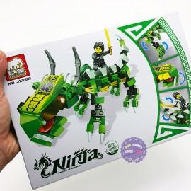 Hộp đồ chơi lắp ráp Ninja rồng xanh Elephant JX81003