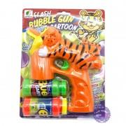 Vỉ đồ chơi súng xà bông cọp 2 bình dùng pin JY999