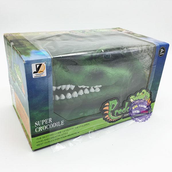 Hộp đồ chơi rối bàn tay cá sấu 3D bằng nhựa mềm