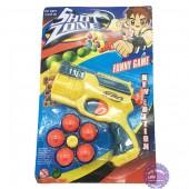 Vỉ đồ chơi súng bắn bóng nhựa 5 banh