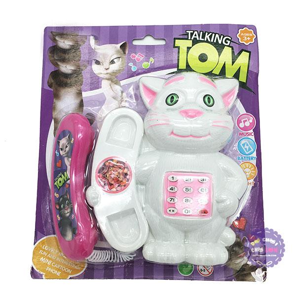 Vỉ đồ chơi điện thoại bàn mèo Tom dùng pin có đèn nhạc
