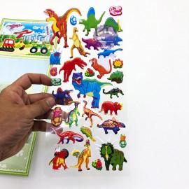 Hình dán sticker nổi 3D hình khủng long tuyệt chủng