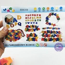 Bộ đồ chơi ráp chữ cái xâu chuỗi bằng nhựa