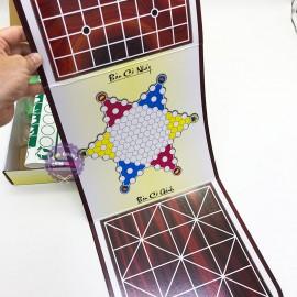 Hộp đồ chơi cờ ô quan 6 trong 1: cờ caro, cờ gánh, cờ cá ngựa, cờ caro, cờ vây