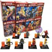 Bộ 8 hộp đồ chơi lắp ráp Ninja bằng nhựa LB357