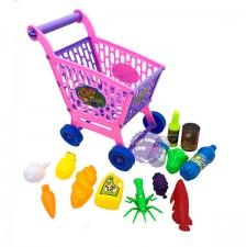 Bộ đồ chơi xe đẩy trái cây siêu thị Long Thủy loại nhỏ