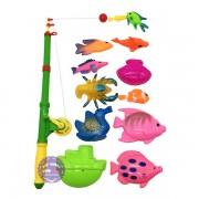 Bộ đồ chơi câu cá nam châm dưới nước 1 cần 10 cá
