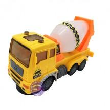 Hộp đồ chơi xe hồ trộn bê tông 6 bánh chạy pin đèn 3D có nhạc