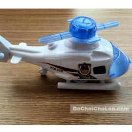 Đồ chơi máy bay trực thăng cảnh sát chạy bằng dây cót