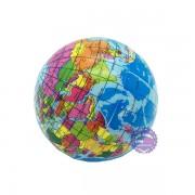 Đồ chơi banh tưng mềm hình quả địa cầu (đường kính 10 cm)