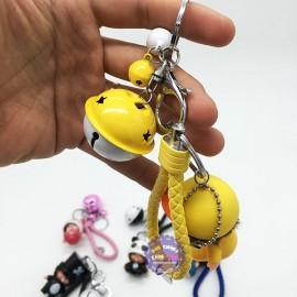Bộ đồ chơi móc khóa hình em bé bú sữa và chuông lắc