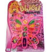 Vỉ đồ chơi xâu vòng hạt cườm nhựa hình con bướm