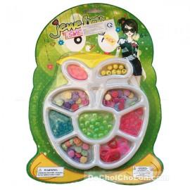 Vỉ đồ chơi xâu vòng hạt cườm nhựa hình trái táo