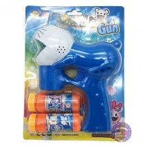 Vỉ đồ chơi súng thổi bong bóng xà phòng 2 bình dùng pin hình Doraemon