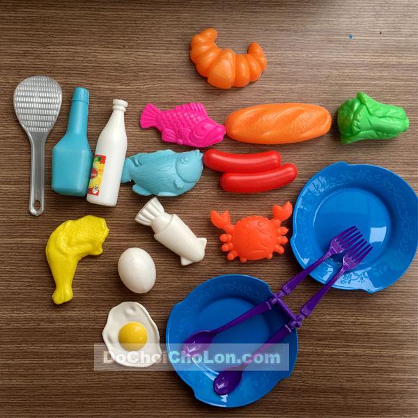 Bộ đồ chơi chảo chiên đồ ăn