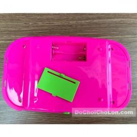 Bộ đồ chơi nấu ăn kệ để chén & bếp ga dùng pin