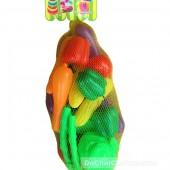 Đồ chơi rau củ quả túi lưới các loại 18 quả