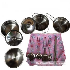 Hộp đồ chơi nấu ăn bằng inox 12 món