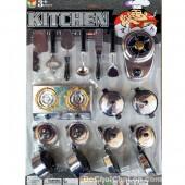 Vỉ đồ chơi nấu ăn Kitchen 6 nồi trắng bạc