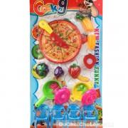 Vỉ đồ chơi nấu ăn Cooking Pizza 2 nồi & trái cây cắt