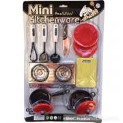 Vỉ đồ chơi nấu ăn Mini Kitchenware 2 nồi đỏ đen