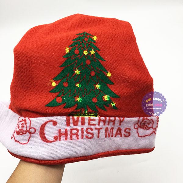 Mũ (nón) ông già Noel bằng vải nỉ mỏng