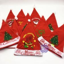 Bộ 10 Mũ (nón) ông già Noel bằng vải nỉ mỏng