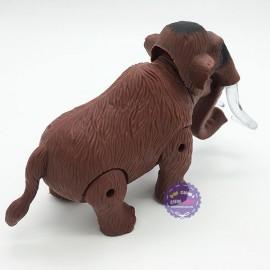 Hộp đồ chơi voi ma mút 2 ngà đèn chạy pin có nhạc