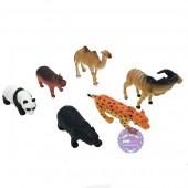 Bộ đồ chơi các loài thú rừng đại 6 con bằng nhựa Wild Animals