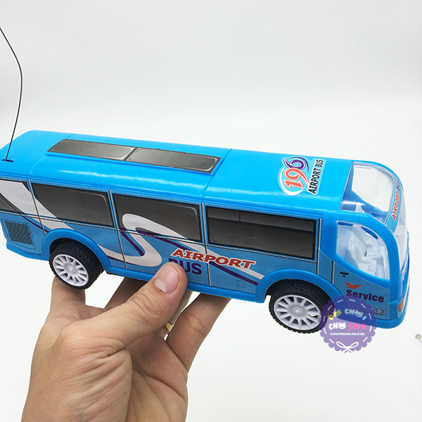 Hộp đồ chơi xe bus điều khiển từ xa 2 kênh chạy pin có đèn