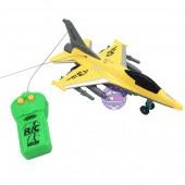 Hộp đồ chơi máy bay chiến đấu điều khiển từ xa 2 kênh chạy pin có đèn