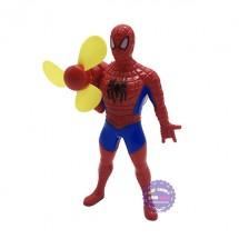 Đồ chơi quạt bóp tay hình người nhện bằng nhựa