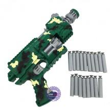Hộp đồ chơi súng bắn đạn mút xốp mềm tự động dùng pin Blaster