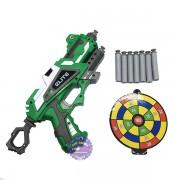 Hộp đồ chơi súng bắn đạn mút xốp mềm người khổng lồ xanh