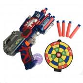 Hộp đồ chơi súng bắn đạn mút xốp mềm Đội trưởng Mỹ