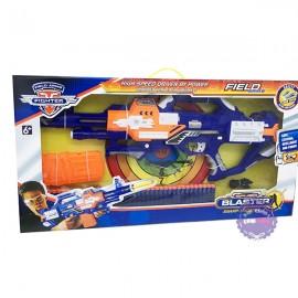 Hộp đồ chơi súng bắn đạn mút xốp 40 cây tự động & mắt kiếng dùng pin