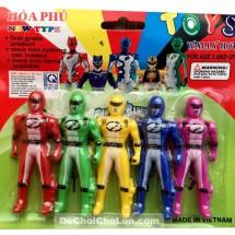 Vỉ đồ chơi 5 anh em siêu nhân mini