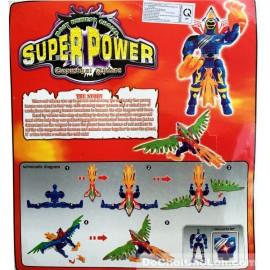 Vỉ đồ chơi lắp ráp siêu nhân chim đại bàng