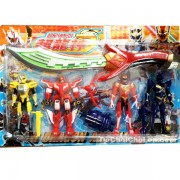 Vỉ đồ chơi 4 anh em siêu nhân thiết giáp & kiếm