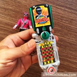 Vỉ đồ chơi 5 anh em siêu nhân thần kiếm Samurai mini & điện thoại