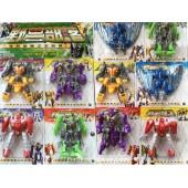 Vỉ đồ chơi lắp ráp robot thú 10 con