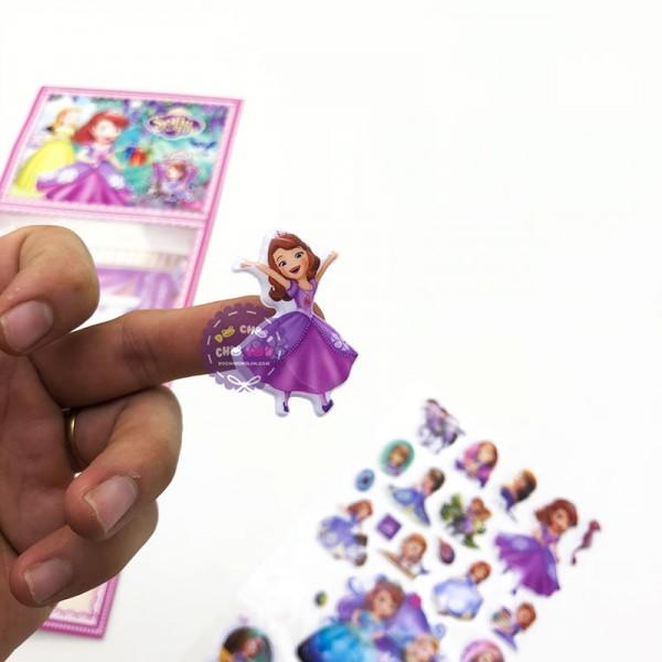 Hình dán sticker nổi 3D hình công chúa Sofia