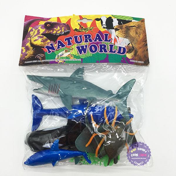 Bộ đồ chơi các loài sinh vật biển bằng nhựa Natural World