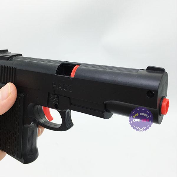 Vỉ đồ chơi súng lục ngắn bắn đạn bi nước bằng nhựa