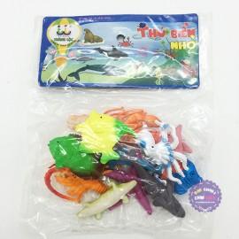 Bộ đồ chơi các loài sinh vật biển nhỏ bằng nhựa Thành Lộc