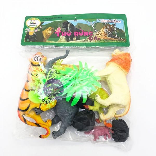 Bộ đồ chơi mô hình thú rừng SƯ TỬ đại bằng nhựa