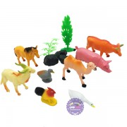 Bộ đồ chơi mô hình thú nuôi trong nhà đại bằng nhựa