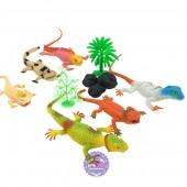 Bộ đồ chơi mô hình các loài tắc kè đại bằng nhựa