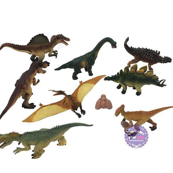 Hộp đồ chơi mô hình các loài khủng long 8 con bằng nhựa