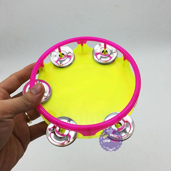 Đồ chơi trống lắc tay lớn bằng nhựa hình hoạt hình